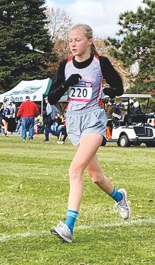 Nadiia Miroshnik running at State