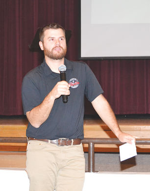 Park and Rec. Supervisor Travis Young speaking