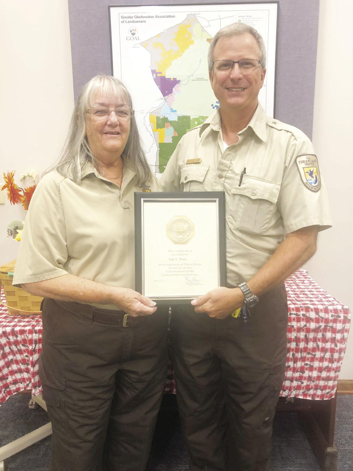 Judy Drury retires from ONWR after 32 years