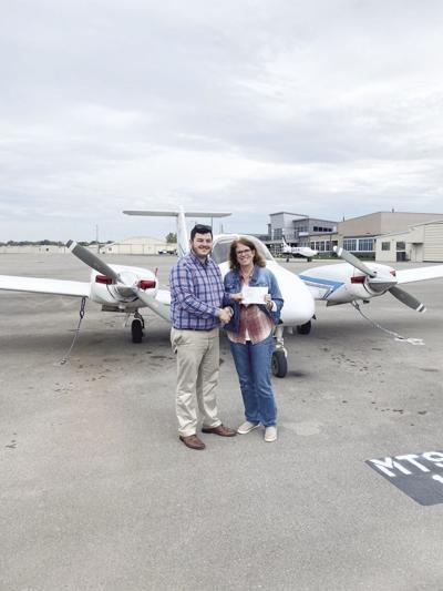 Burnsed recently earns  multiengine pilot's license