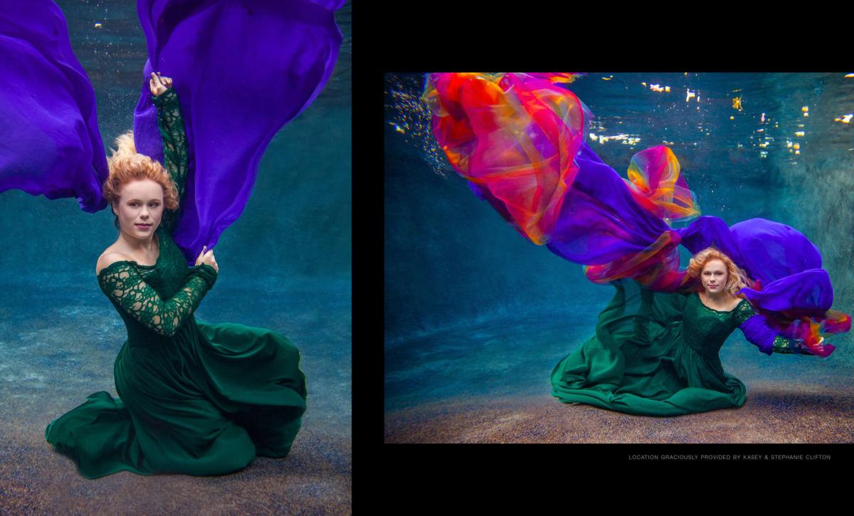 Underwater Beauty + Floral Fashion