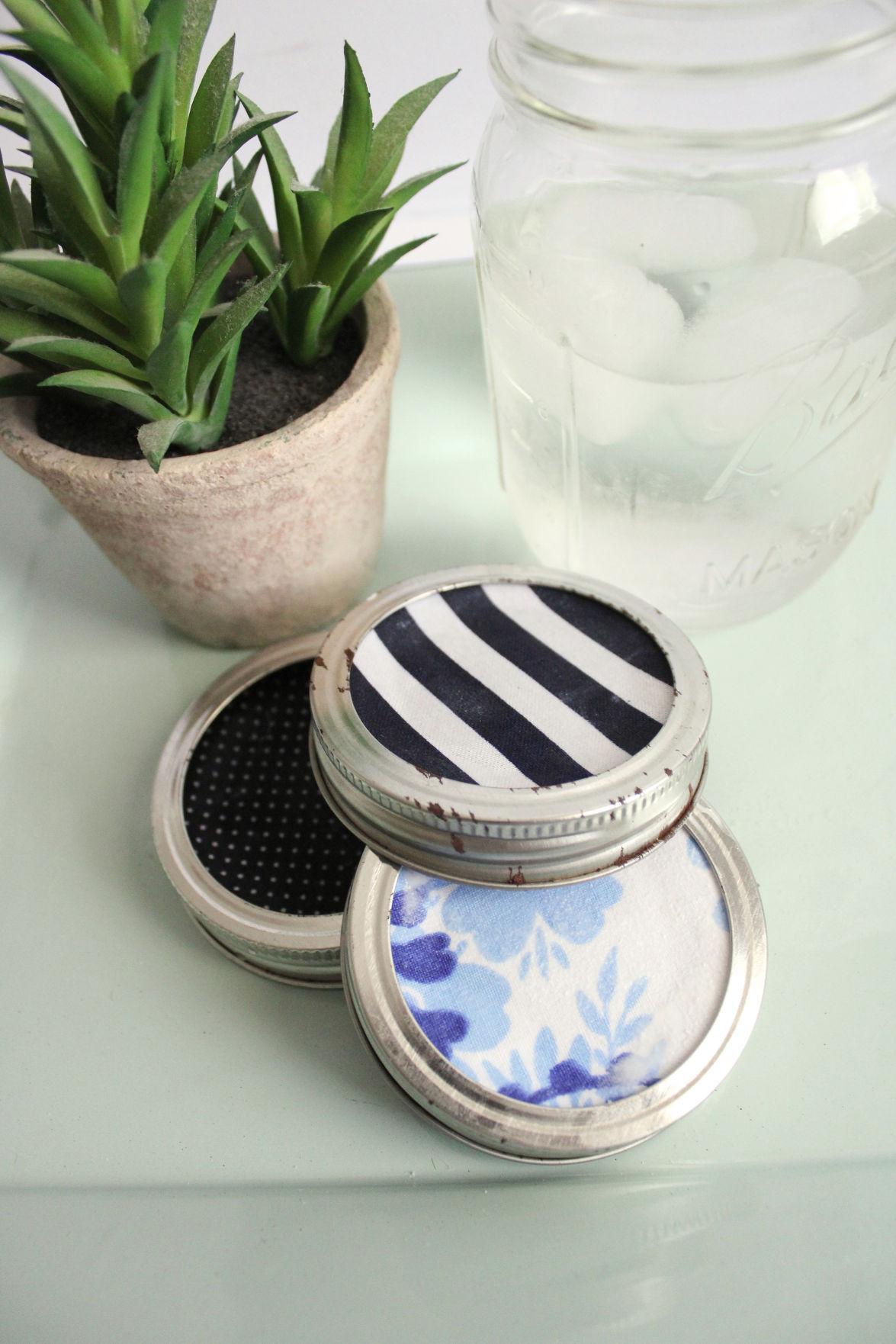 Mason Jar Coasters DIY