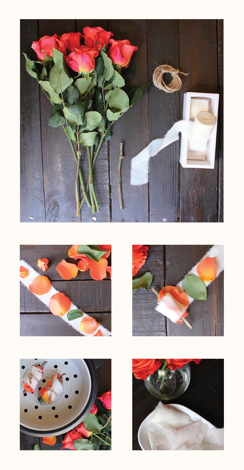 Flower Fabric Dyeing DIY