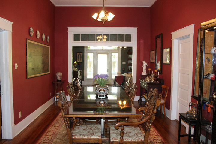 Linford Lentz's dining room