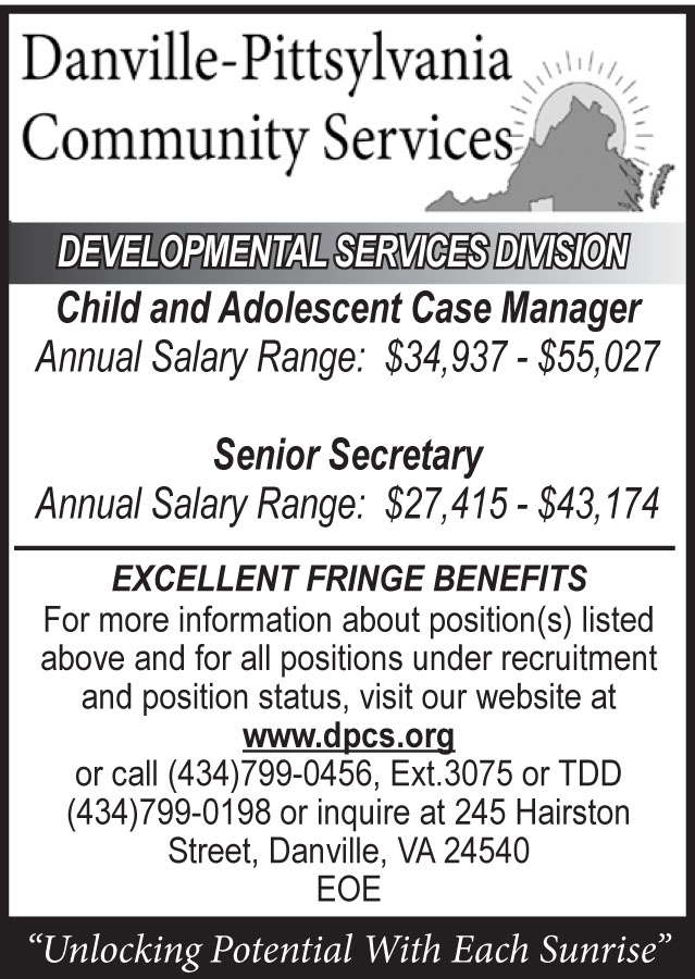 Danville-Pittsylvania Community Services Help Wanted