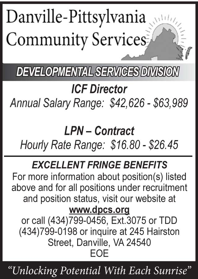 Danville- Pittsylvania Community Services Help Wanted