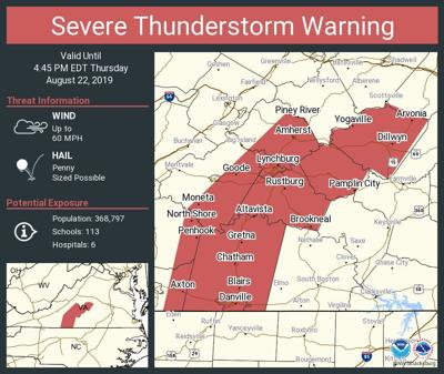 Severe thunderstorm warning