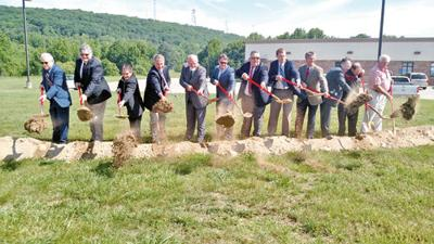 Ceremonial groundbreaking held for county Internet towers