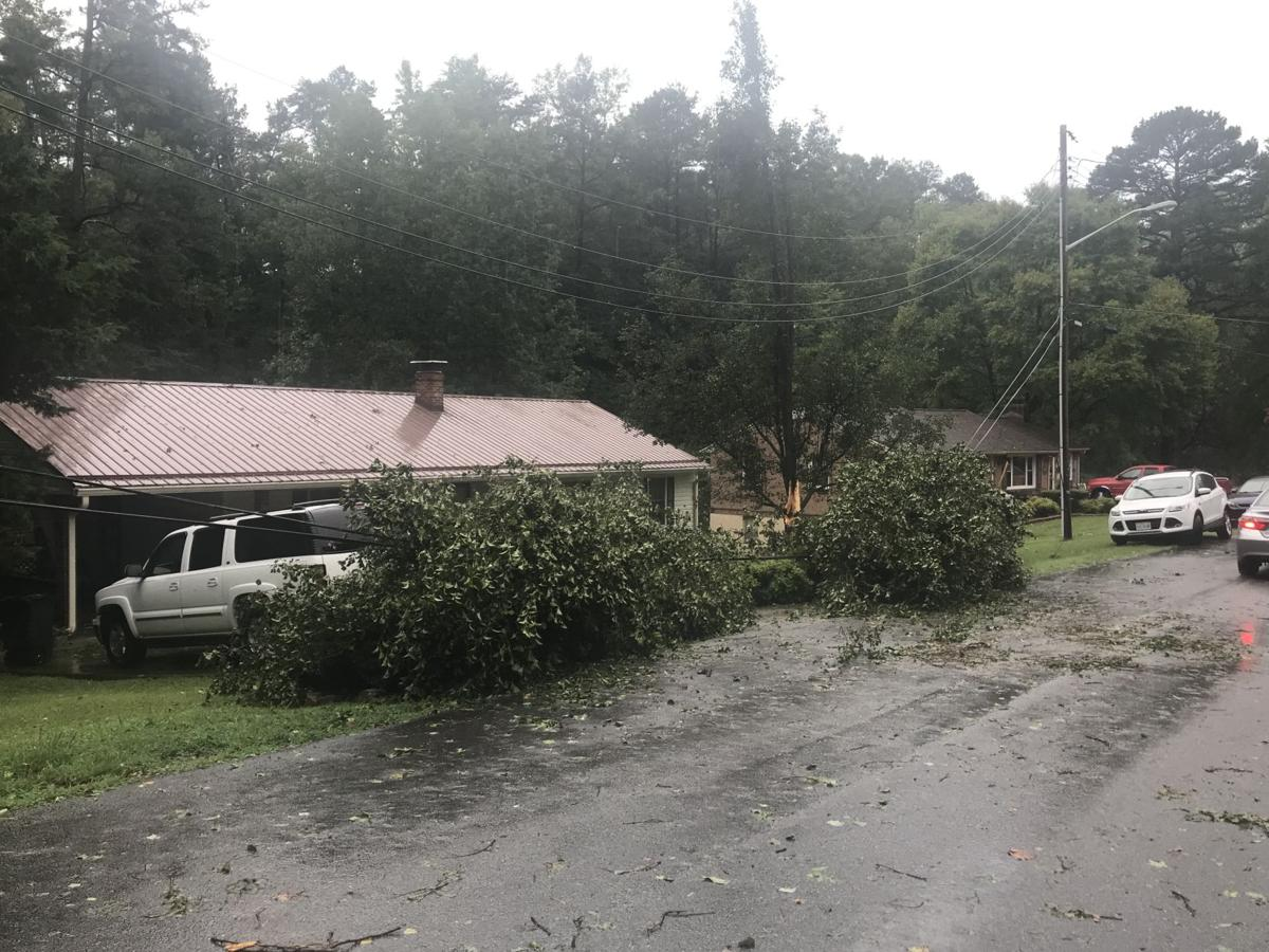 Afternoon storm slams Danville
