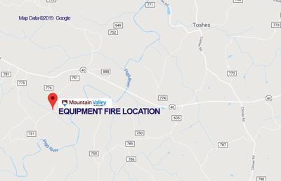 Equipment fire location