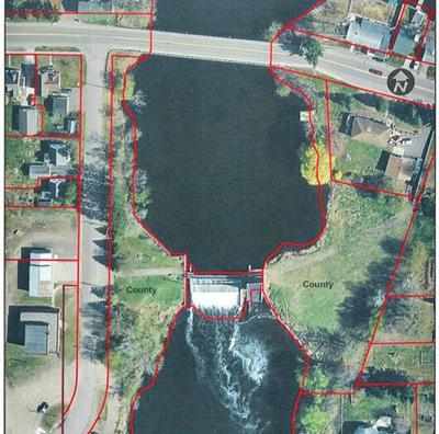 Chetek dam aerial