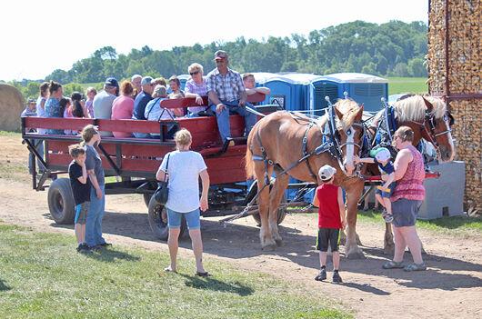 Dairy breakfast, wagon ride