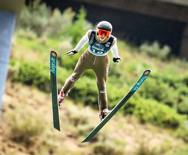 Landon Lee ski jumping