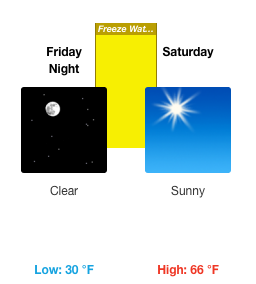 Freeze watch in effect for parts of Grady County on Friday night