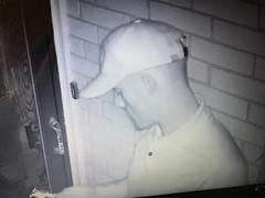 Male suspect who entered the home