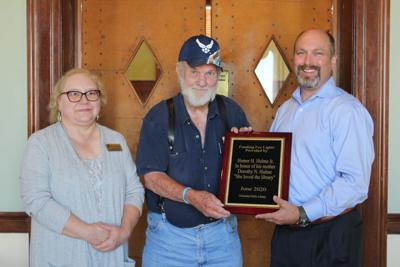 Homer Hulme honored for contribution to Chickasha Public Library