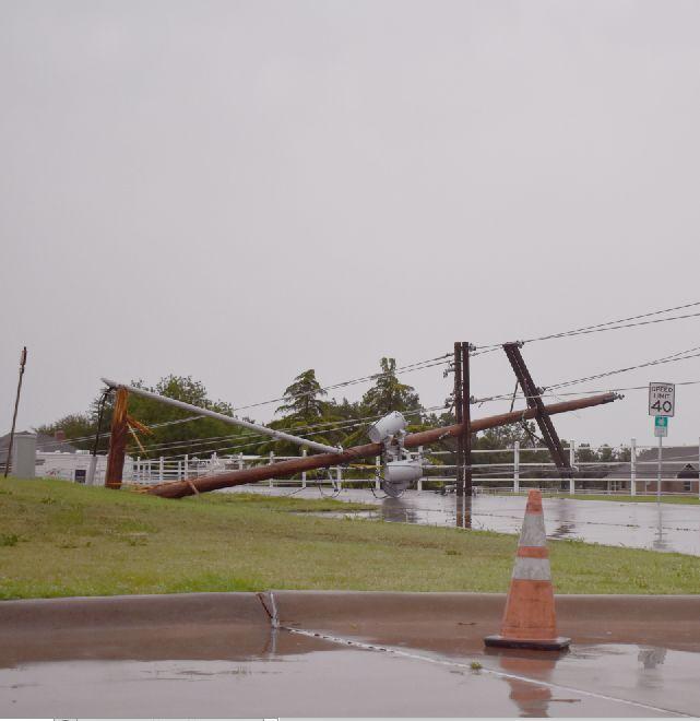 11 poles damaged