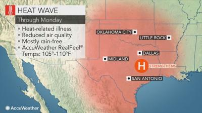 AccuWeather reports continued high heat likely in Southern Plains