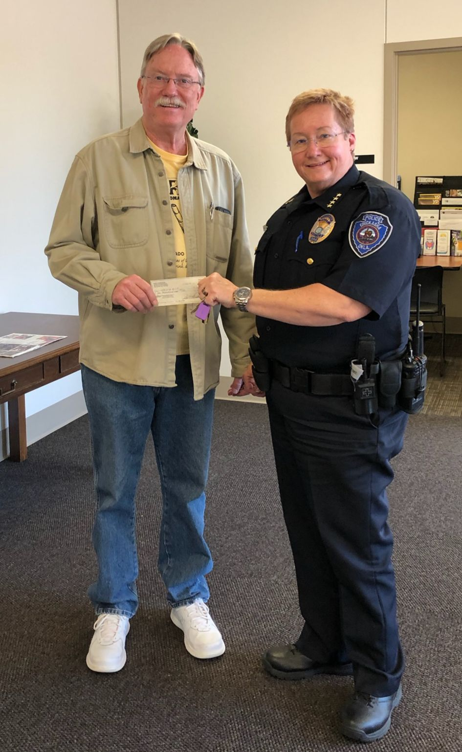 Herndon donates to Shop with a Cop