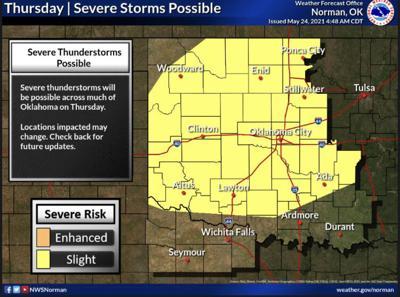 Thursday thunderstorms