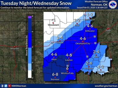 NWS: Snow possible Tuesday evening, Wednesday afternoon in Grady