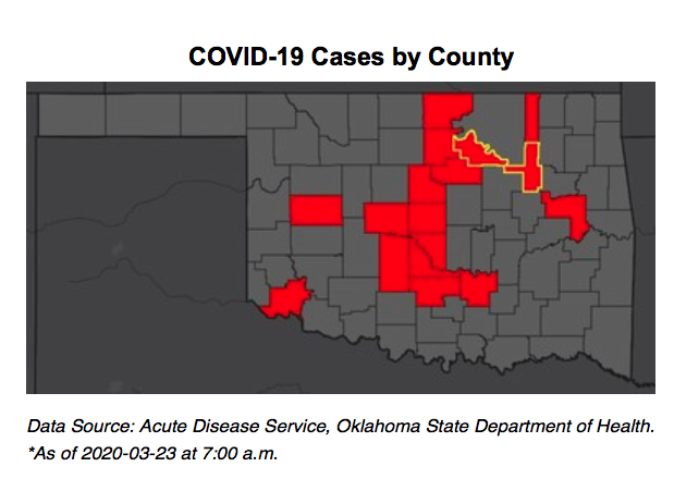OSDH Update: 81 positive cases of COVID-19