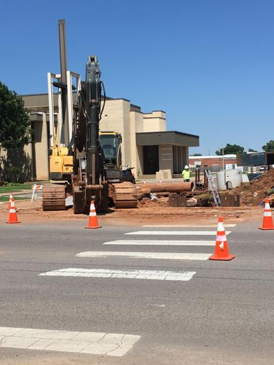 Repairs continue on sinkhole at 4th and Colorado Ave.