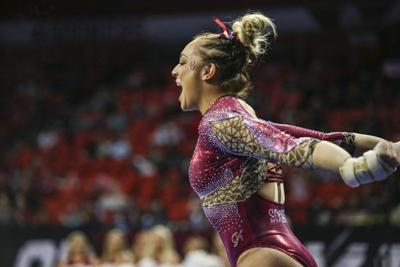 OU women's gymnastics: Maggie Nichols adds two more 10s as Oklahoma dominates West Virginia, TWU