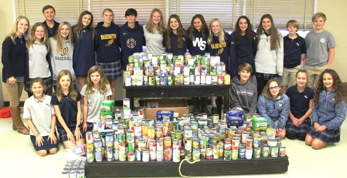 Washington School Food Drive