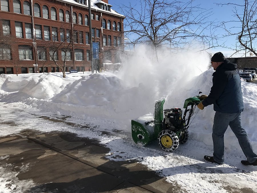 Stout snow plowing
