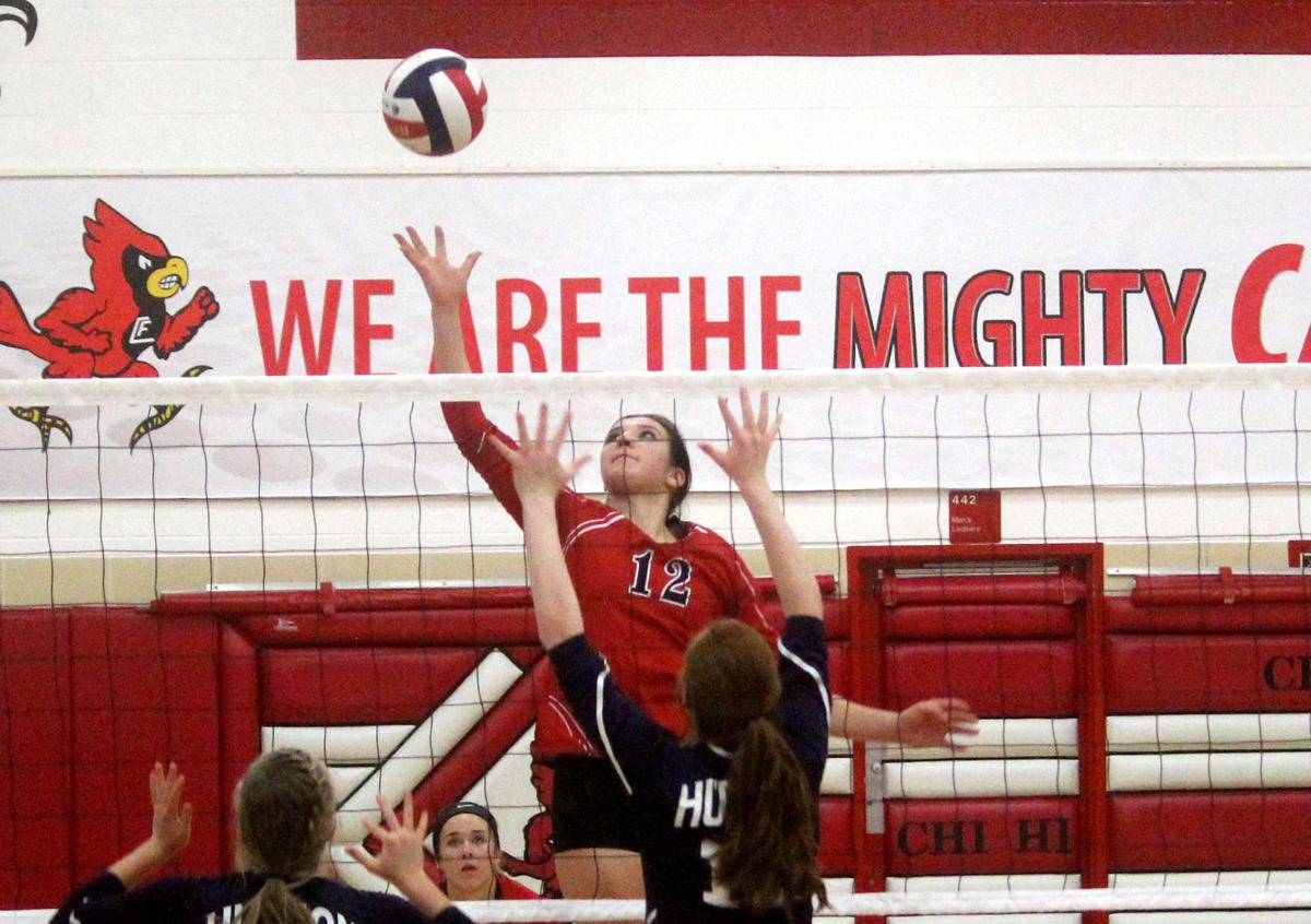 Hudson at Chi-Hi volleyball 10-12-17
