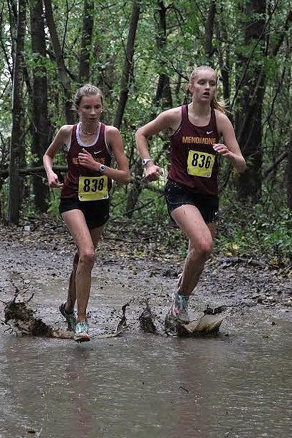 Menomonie girls cross country at New Richmond 10-5-19