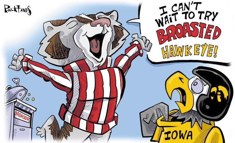 Bucky broasts the Iowa Hawkeyes