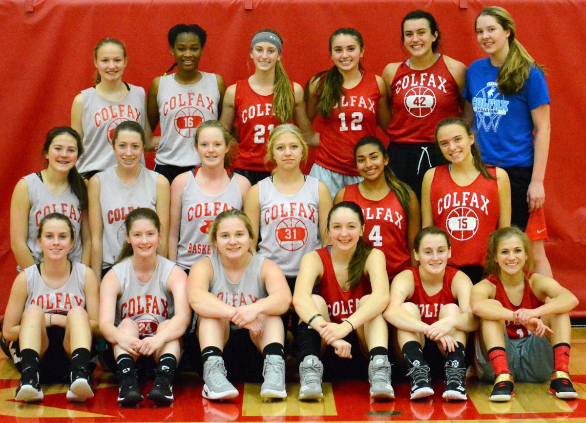 The 2017-18 Colfax girls' basketball team