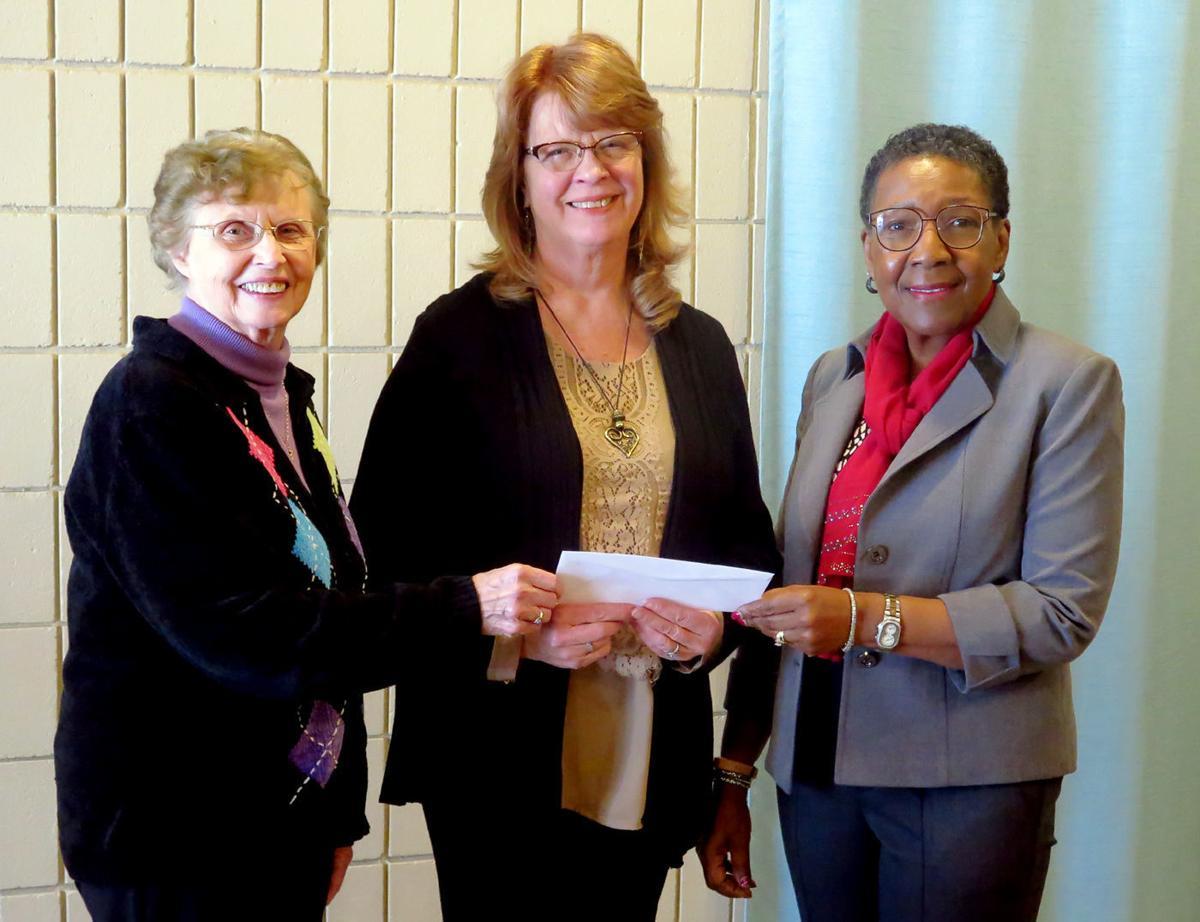 P.E.O. presents grant to The Bridge to Hope