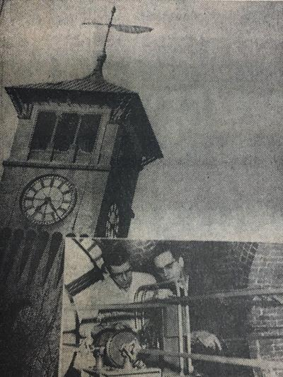 Stout clock in 1958