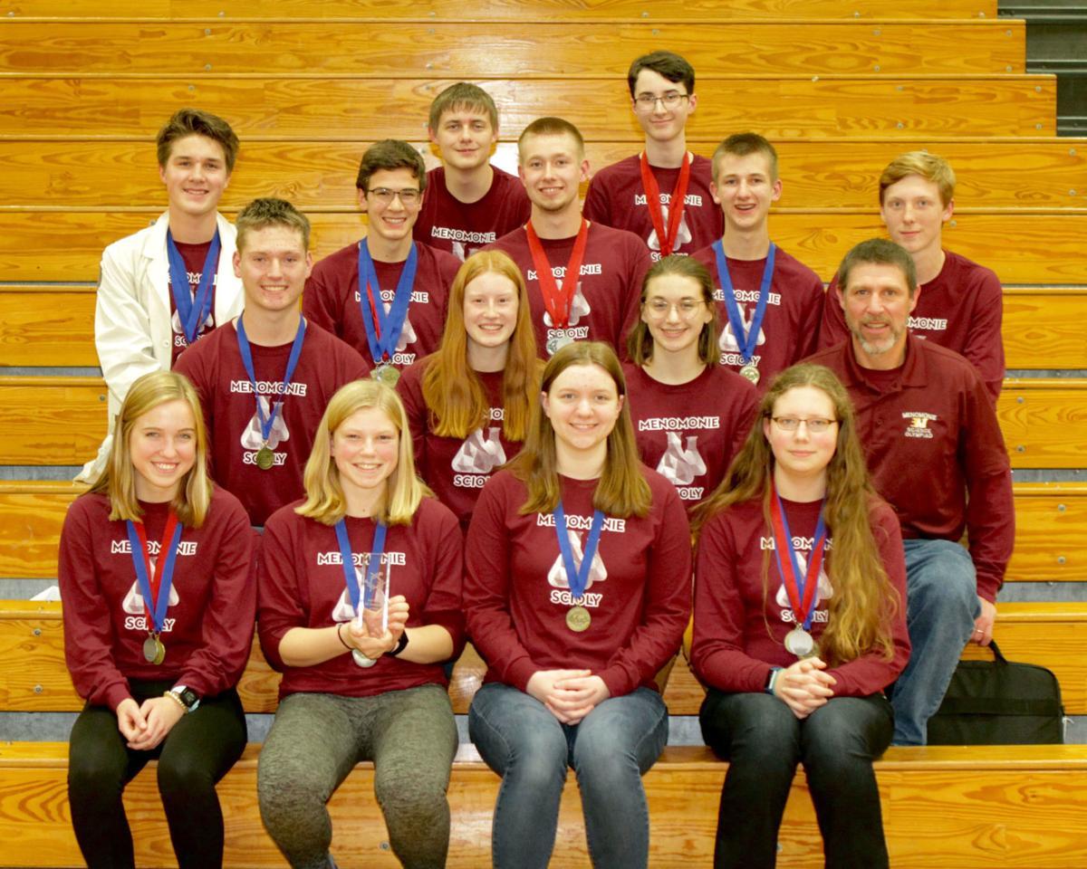 Menomonie High School Science Olympiad team