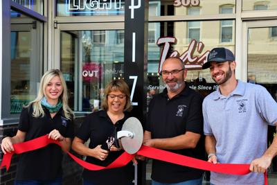 Ted's Pizza Palace ribbon cutting