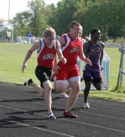 Chi-Hi Track at Big Rivers Conference Meet at Eau Claire North