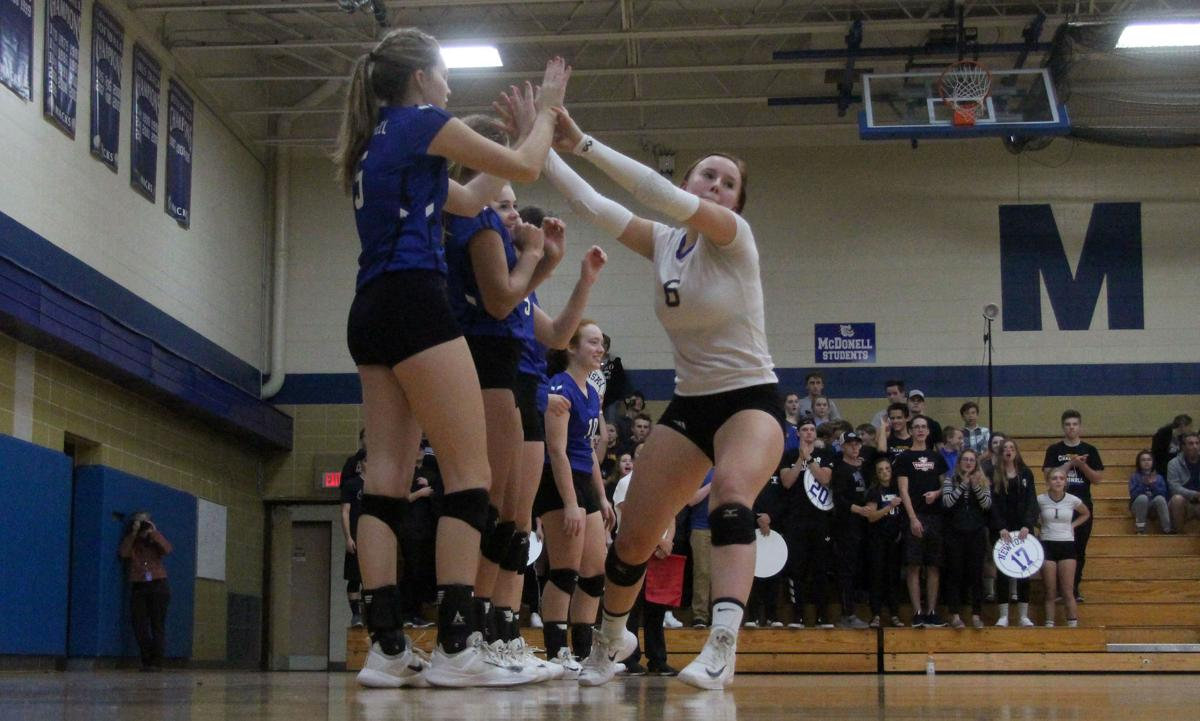 Eau Claire Regis at McDonell volleyball 10-5-17