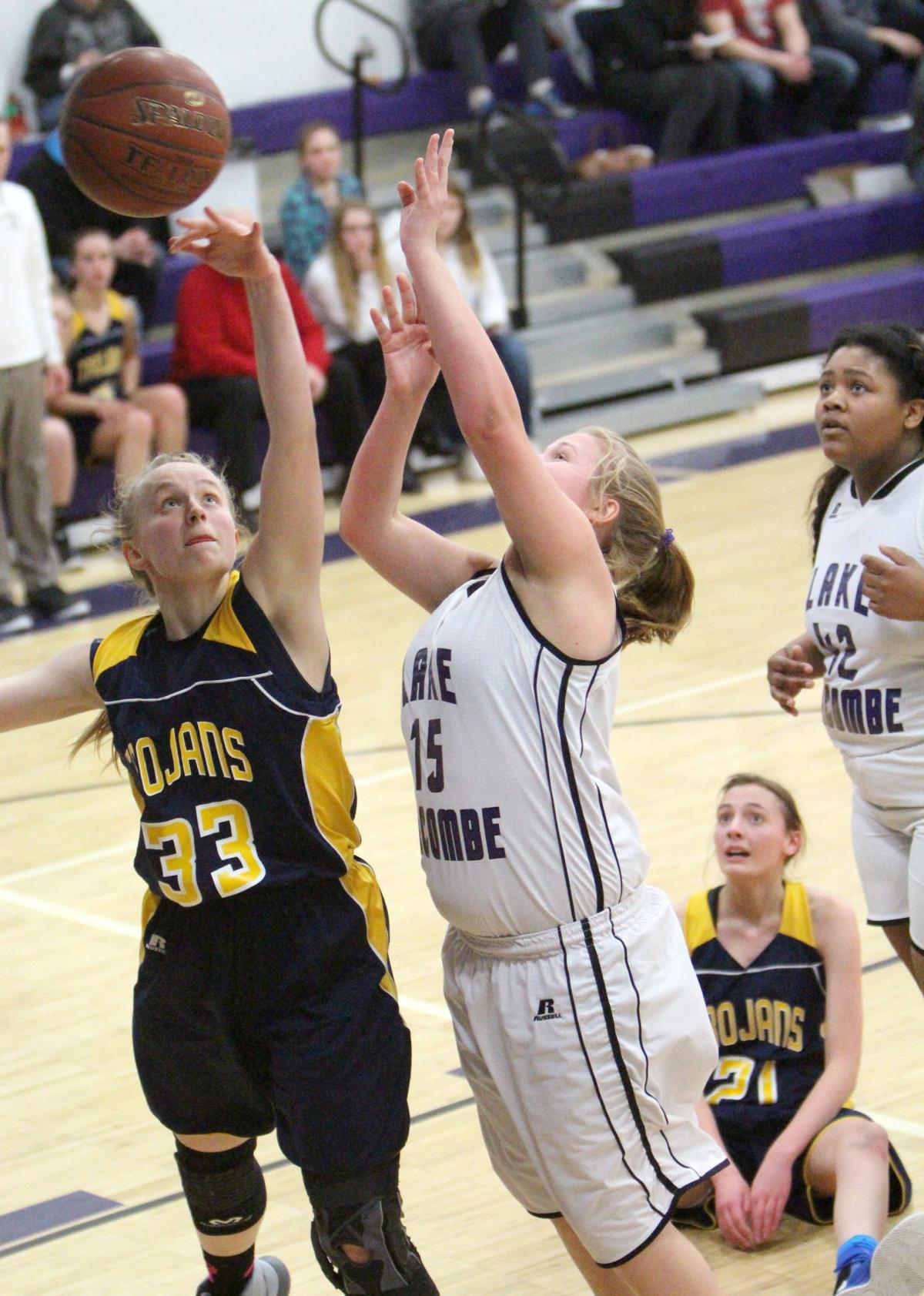 Prep Girls Basketball New Auburn Battles Past Lake Holcombe