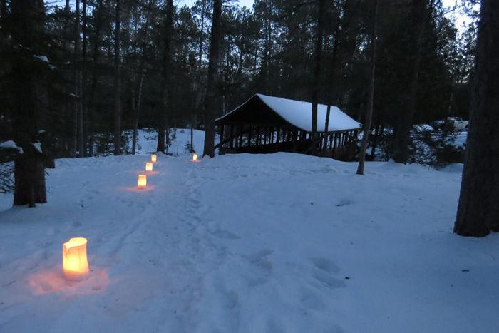 Amnicon Falls candlelight hike