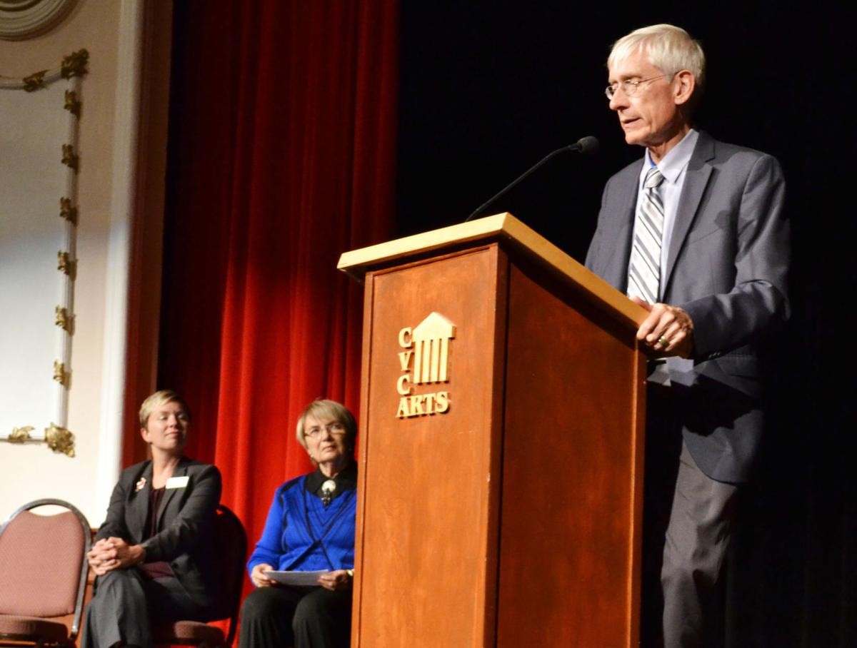 Tony Evers at the Heyde