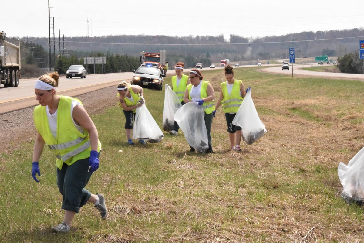 Chippewa County Jail's female inmates participate in annual clean up