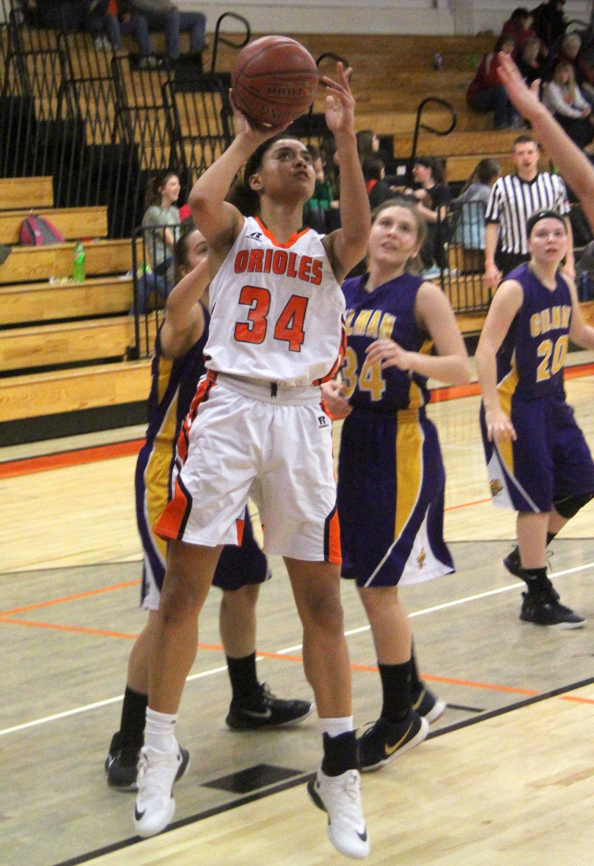 Gilman at Stanley-Boyd girls basketball 2-15-18