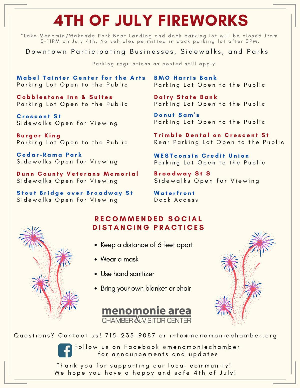 Menomonie fireworks participating businesses