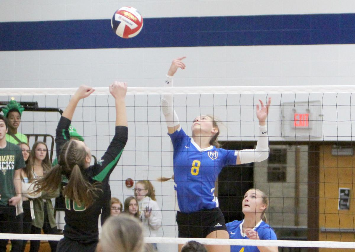 Eau Claire Immanuel Lutheran at McDonell volleyball 10-26-19