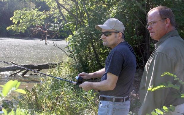 Veterans take a turn fishing local for Take a vet fishing