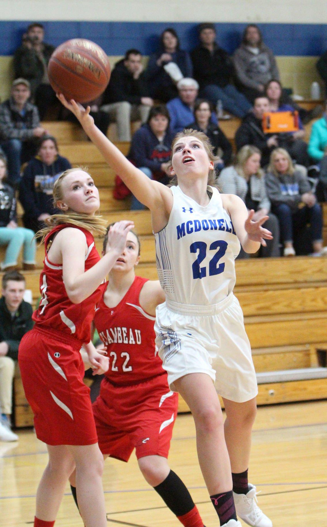 Flambeau at McDonell girls basketball 2-12-18