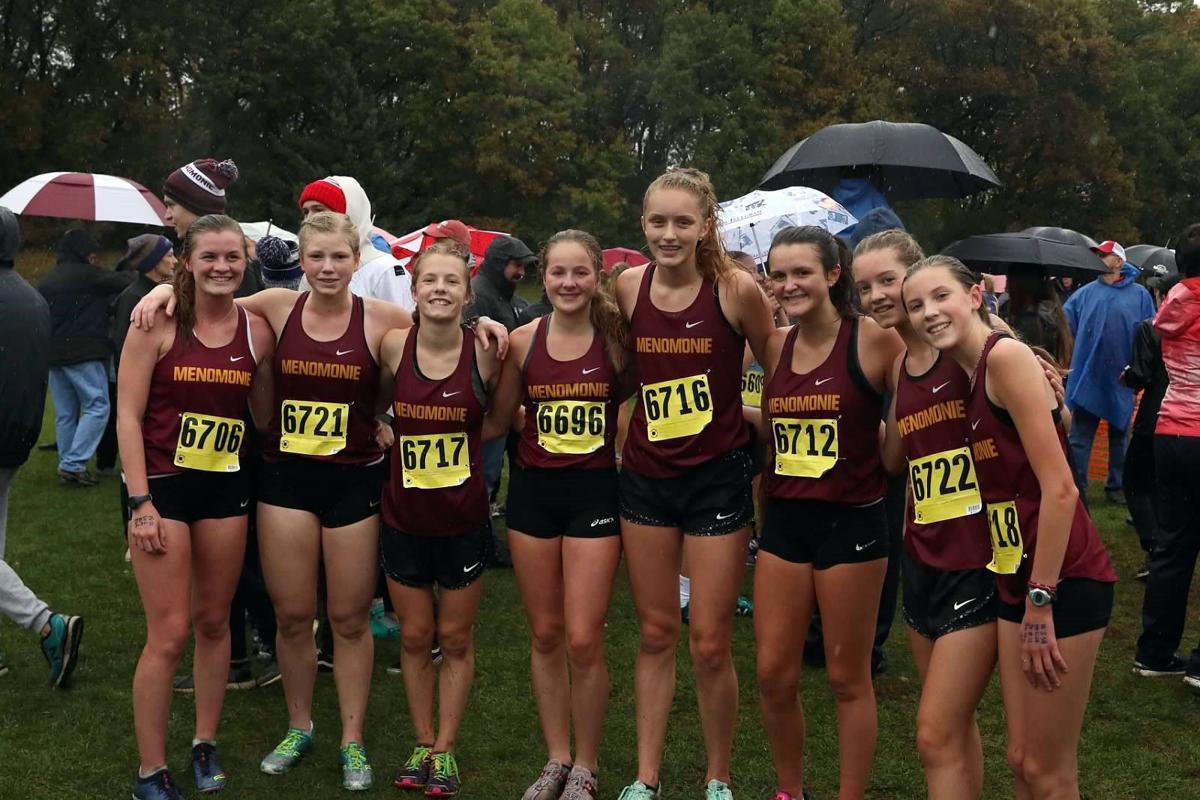 Menomonie girls cross country team